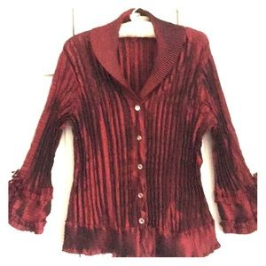 Chic Rib Pleated Blouse